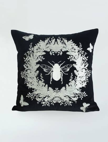 MM Linen - Bebe Cushion - Black