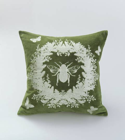 MM Linen - Bebe Cushion - Olive