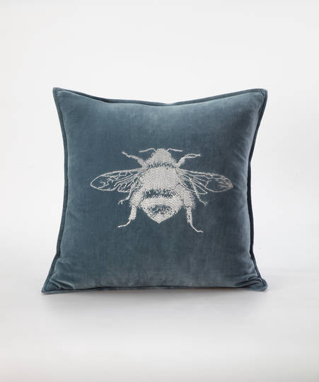 MM Linen - Beemine Cushion Bluestone