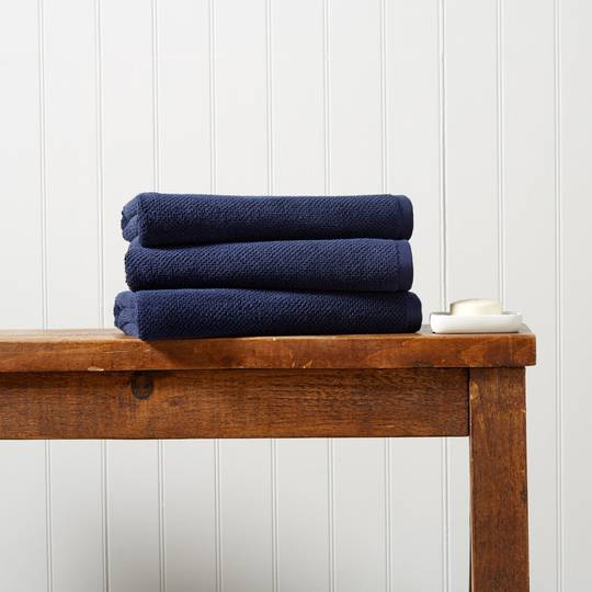 Seneca - Christy Brixton Towels, Hand Towels, Bath Mats - Midnight