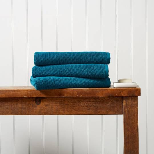 Seneca - Christy Brixton Towels, Bath Mats - Peacock
