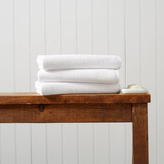 Seneca - Christy Brixton Towels, Hand Towels, Bath Mats - White