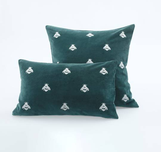 MM Linen - Buzz Cushions - Emerald