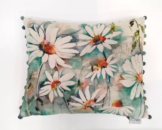 Voyage Maison - Country Blooms - Prairie Meadows Cushion - Biscay