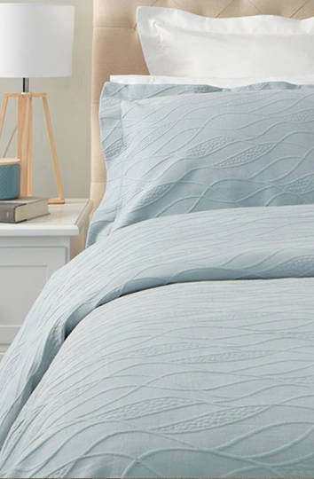 Baksana - Calm Waters Bedspread Set -  Duck Egg