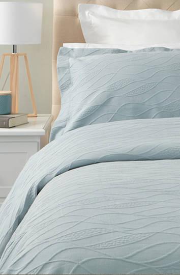 Baksana - Calm Waters Bedspread Set -  Duck Egg