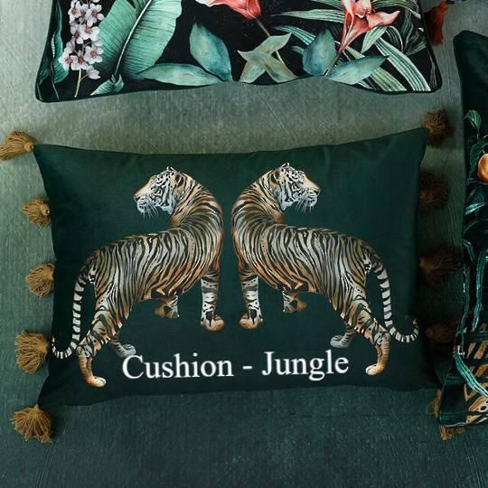 MM Linen - Avalana - Caspian Cushion - Jungle