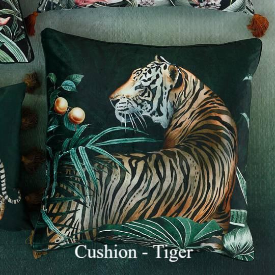 MM Linen - Avalana - Caspian Cushion - Tiger