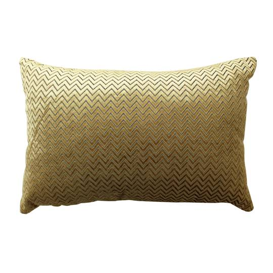 NZ Merchants -  Celine Chevron Cushion - Gold