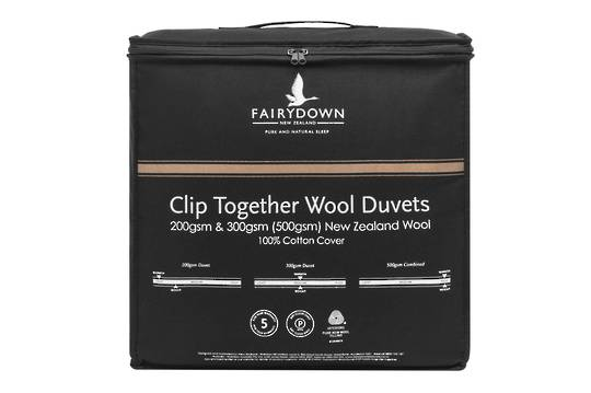 Fairydown - Clip Together Woolmark Certified New Zealand Wool Duvet