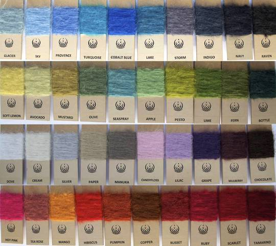 New Zealand Made Windermere Mohair Throws - Colour Range for Knee Wraps & Throws
