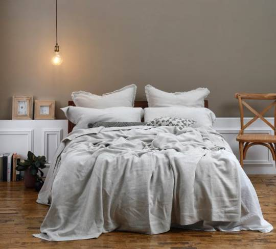MM Linen - Crozet Bedspread Set - Natural