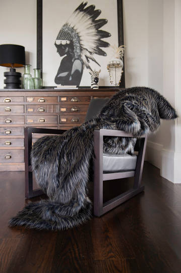 Heirloom Exotic Faux Fur -  Cushion / Throw  -  Dark Pheasant