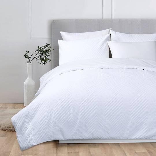 Eden - Denny Duvet Cover Set - White