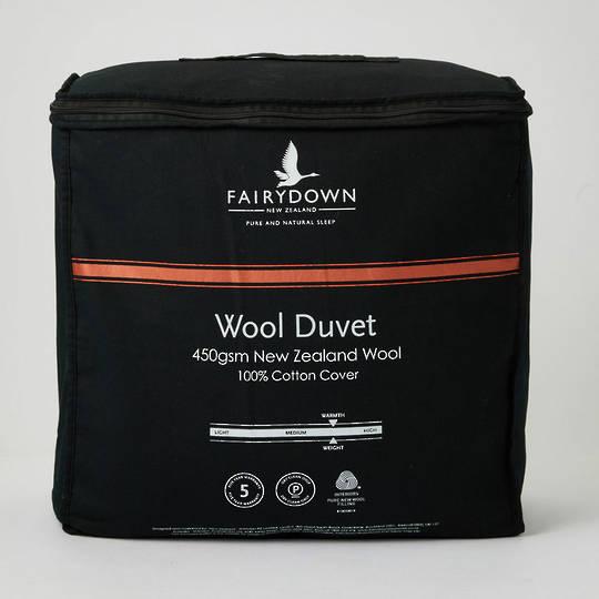 Fairydown -  Woolmark Certified New Zealand Wool Duvet Inner 450gm