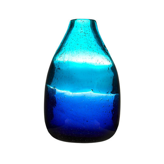 Importico - Voyage Maison Glass - Chandra Tall Vessel - Cobalt