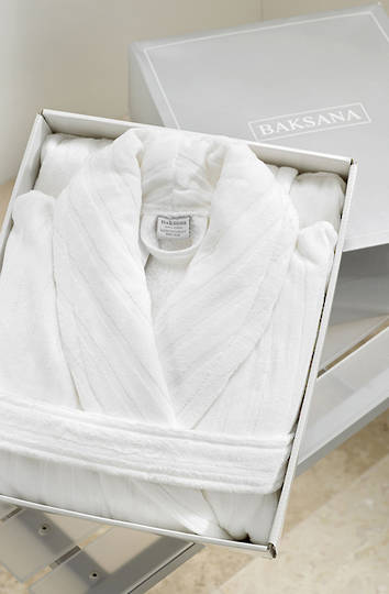 Baksana -  Unisex Luxury Hotel Robe - White