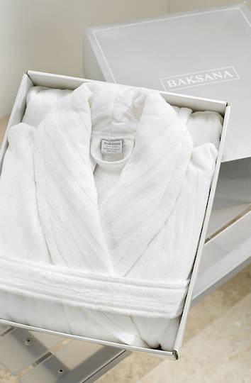Baksana -  Unisex Luxury Hotel Robe - White - ON SALE