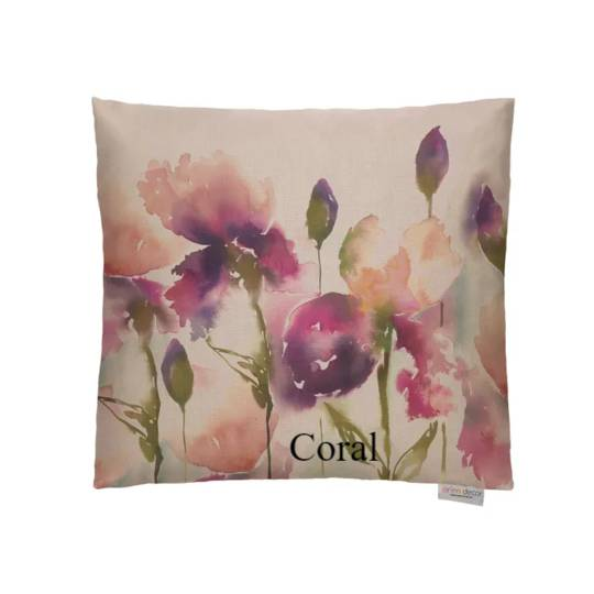 Voyage Maison - Iris Cushion - Coral/Indigo/Lemon/Pastel