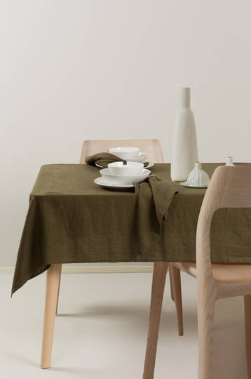 Importico - Himla Napkins/Table Runner/Tablecloths - Khaki