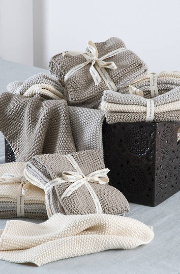 Bianca Lorenne - Lavette Dish Cloth Set - Taupe