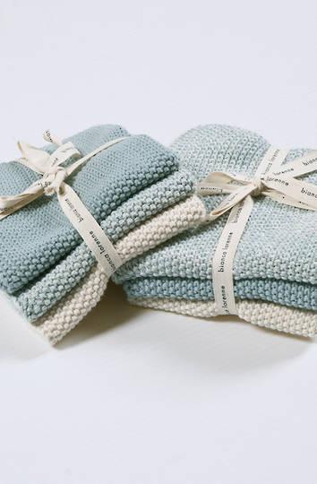 Bianca Lorenne - Lavette  Dish Cloth Set - Duck Egg