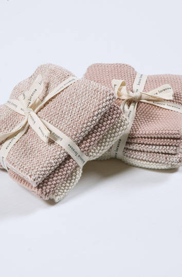 Bianca Lorenne - Lavette Dish Cloth Set - Petal