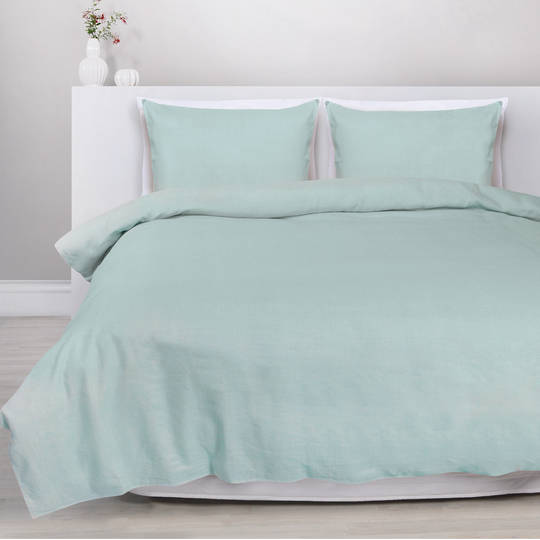 Eden - Linen/Cotton Duvet Cover Set - Seaside