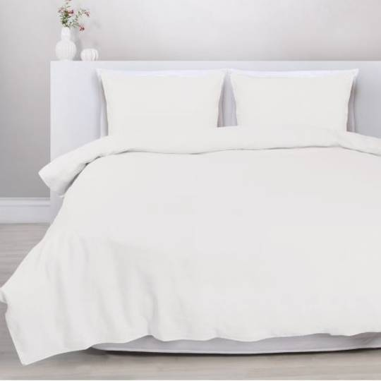 Eden - Linen/Cotton Duvet Cover Set - White
