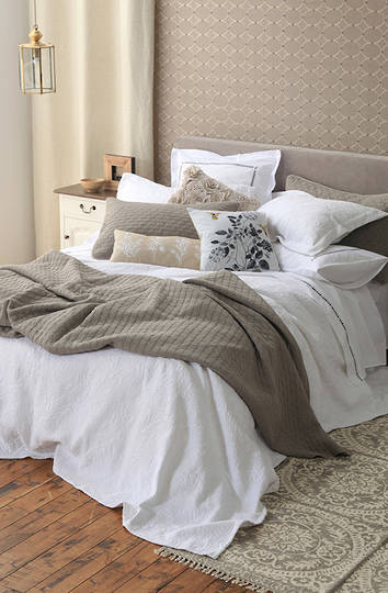 MM Linen - Louvre Comforter Set - Dove  -  ON SALE