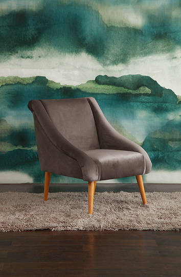 MM Linen - Mishka Armchair - Mushroom