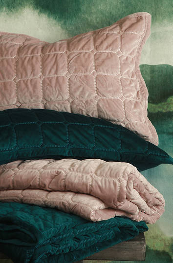 MM Linen - Meeka Rosewood Quilted Comforter Set - Small - ON SALE
