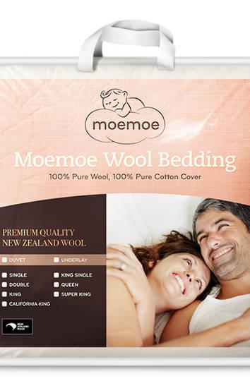 MoeMoe 100% Wool Summer Weight Duvet Inner 300gsm
