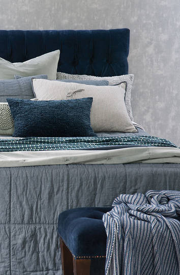 Bianca Lorenne - Noma Denim Bedspread / Pillowcase