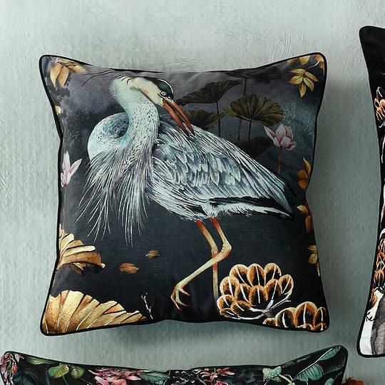 MM Linen - Avalana -  Orient Midnight Cushion 50cm x 50cm