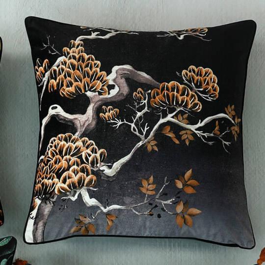 MM Linen - Avalana -  Orient Midnight Cushion 60cm x 60cm