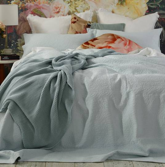 MM Linen - Nina Bedspread Set - Duckegg