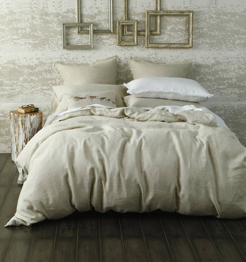 MM Linen - Laundered Linen Duvet Cover Set -  Natural