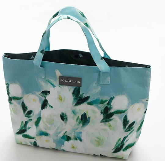 MM Linen - Tote Bag and Make Up Pouch -  Camellia