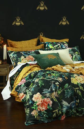 MM Linen - Meeka  Gold Quilted  Comforter Set  / Eurocase  Set