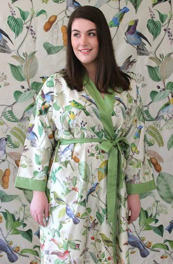 MM Linen - Aviary Kimono Robe