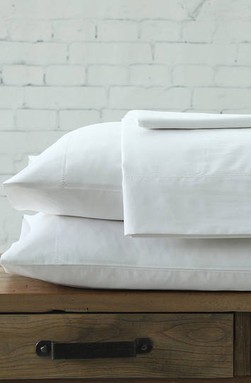 MM Linen - Maddon 500TC White Sheet Set / Pillowcases