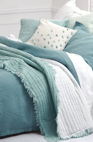 MM Linen - Tali Cotton Throw - Duckegg