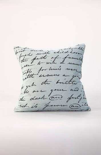 MM Linen - Love Poem Velvet Cushion