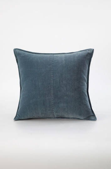 MM Linen - Velvet Cushion - Bluestone