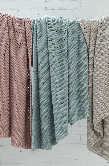 MM Linen - Bronte Cotton Throw - Duckegg