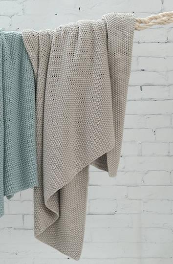 MM Linen -  Bronte Cotton Throw - Putty