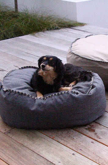 MM Linen - Kalo Charcoal Pet Bean Bed - Unfilled