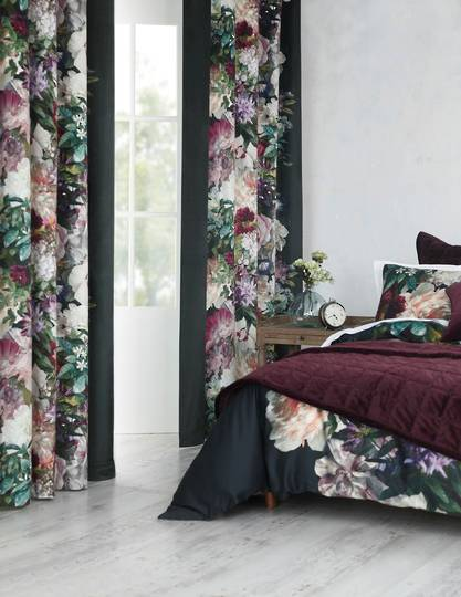MM Linen - Fiori  Velvet Curtains