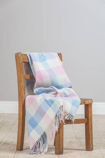 Importico - Foxford - Lambswool Throw - Multi Check Baby Throw